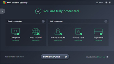 AVG Internet Security - An advanced antivirus software that can be used on all home PCs