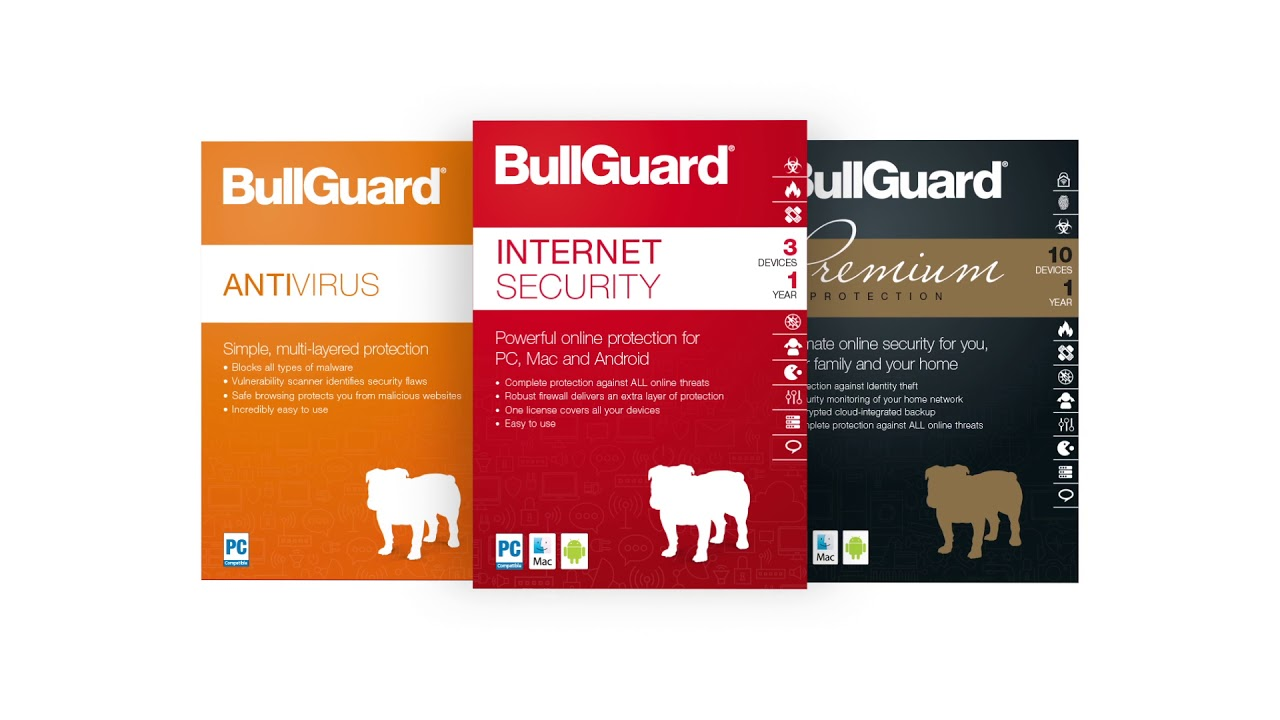 Products: BullGuard Antivirus & Security.