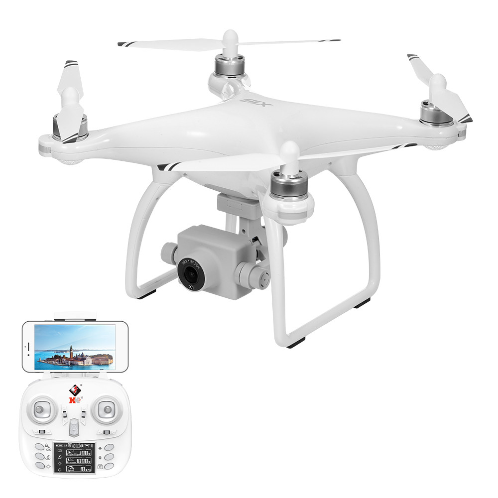Wltoys XK X1S 5G WIFI FPV GPS With 4K HD Camera Two-axis Coreless Gimbal 22 Mins Flight Time Brushless RC Drone Quadcopter - 1080P