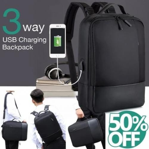 Official Premium Intelligent Anti-theft Laptop Rucksack with USB Charging Laptop Backpack