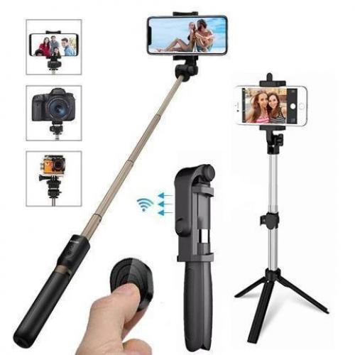 Official 4 in 1 Wireless Bluetooth Selfie Stick