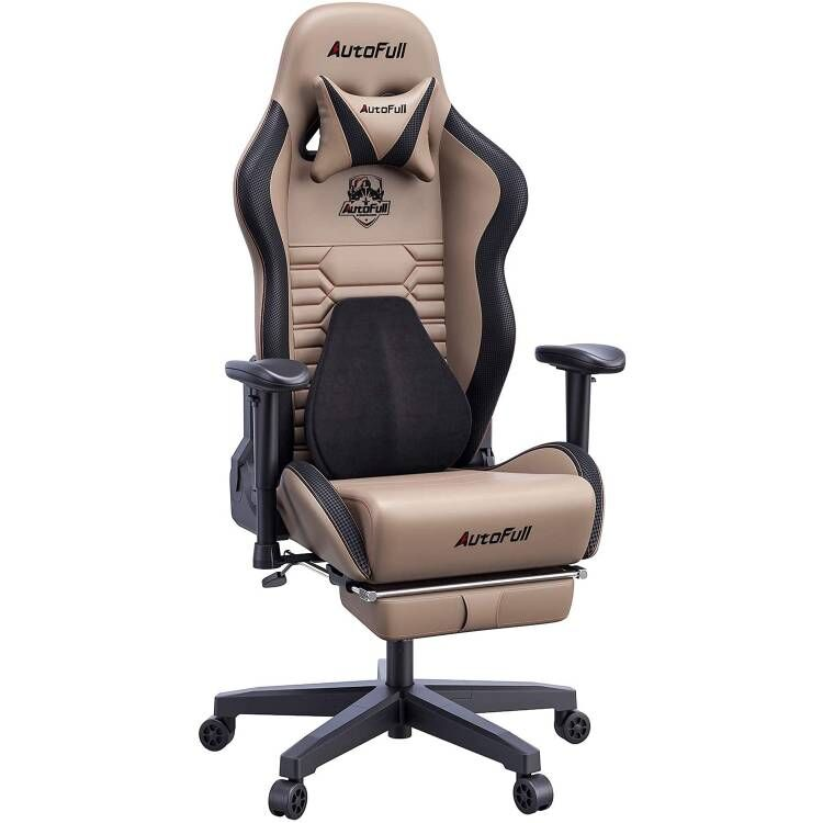 AutoFull Gaming Chair AF083ZPJA,Brown