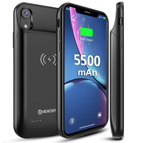 Official NEWDERY Wireless Charging Battery Case for iPhone XR