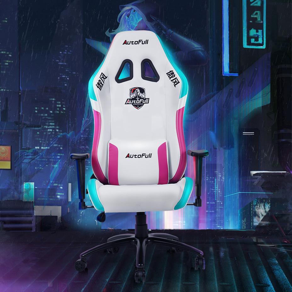 AutoFull Neonpunk Gaming Chair White AF902WPU