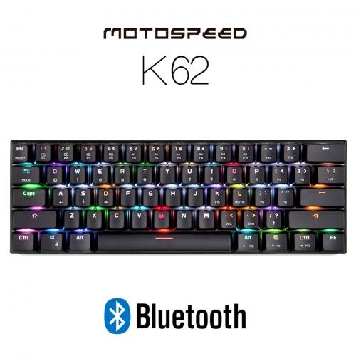 Official MOTOSPEED K62 Bluetooth Wired Mechanical Keyboard with RGB Backlight - Black color
