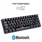 MOTOSPEED K62 Bluetooth Wired Mechanical Keyboard with RGB Backlight - Black color