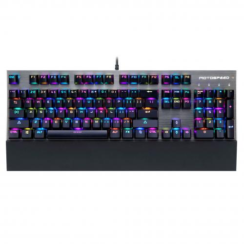 Official Motospeed CK108 RGB Wired Gaming Mechanical Keyboard - Outemu Switch