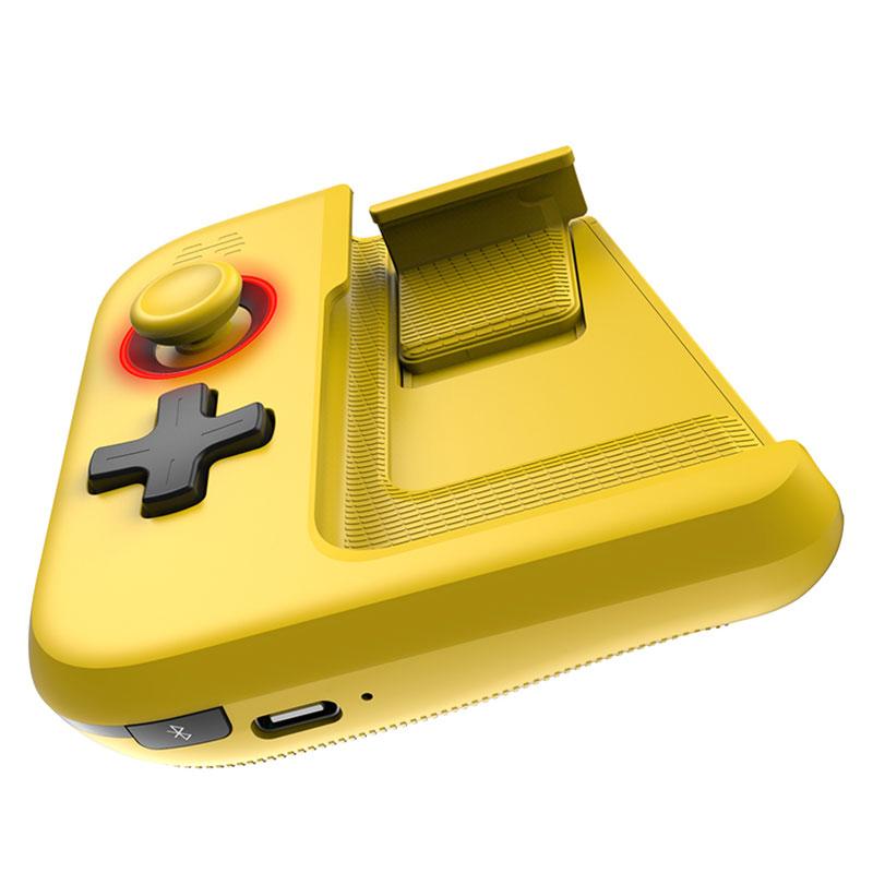 BETOP G1 Single Hand Bluetooth Wireless Gamepad Phone Game Controller - Blue & Yellow