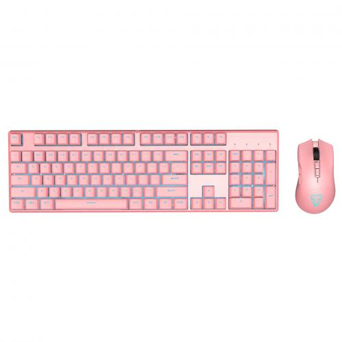 Official Motospeed CK700 Zeus Optical switch, Ice blue backlit Keyboard Mouse Combo-Pink color(Waterproof IP68)