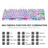Motospeed K87S RGB NKRO Mechanical Keyboard-White