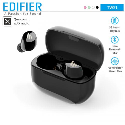 Official EDIFIER TWS1 wireless earphones bluetooth 5.0 aptX Touch control IPX5 Ergonomic design wireless earphones Bluetooth earphone