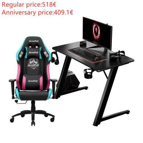 Autofull AF092+AFDJZ004BL Gaming Chair and Desk Combo