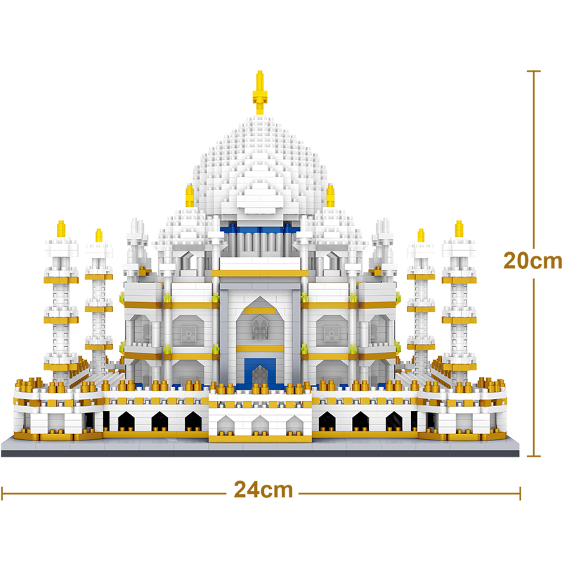 Architecture Bricks Toy World Famous Taj Mahal Children Toy