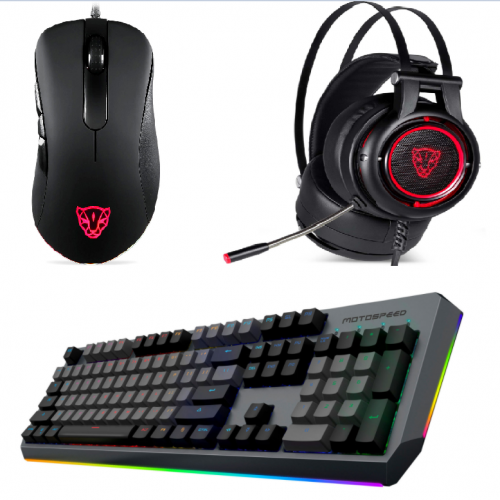 Official Motospeed Esports 3-piece pack Mice Headset Keyboard(V100 H18 CK80)