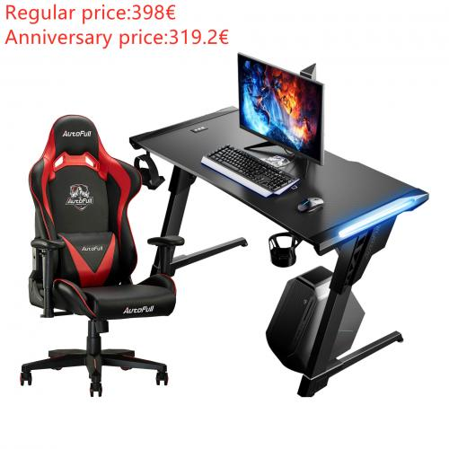 Autofull AF063+AFDJZ004B Gaming Chair and Desk Combo