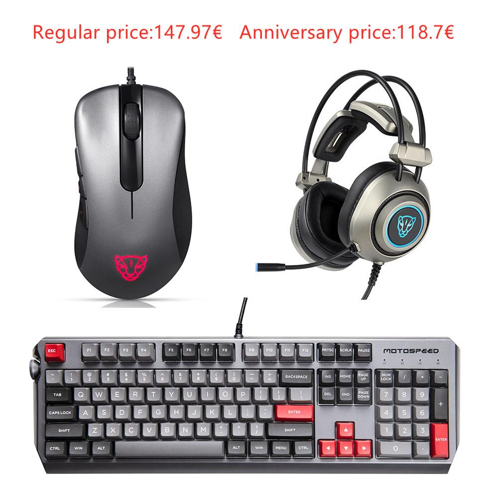 Motospeed Esports 3-piece pack Mice Headset Keyboard(CK80 V100 H19 )