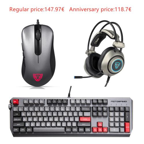 Official Motospeed Esports 3-piece pack Mice Headset Keyboard(CK80 V100 H19 )