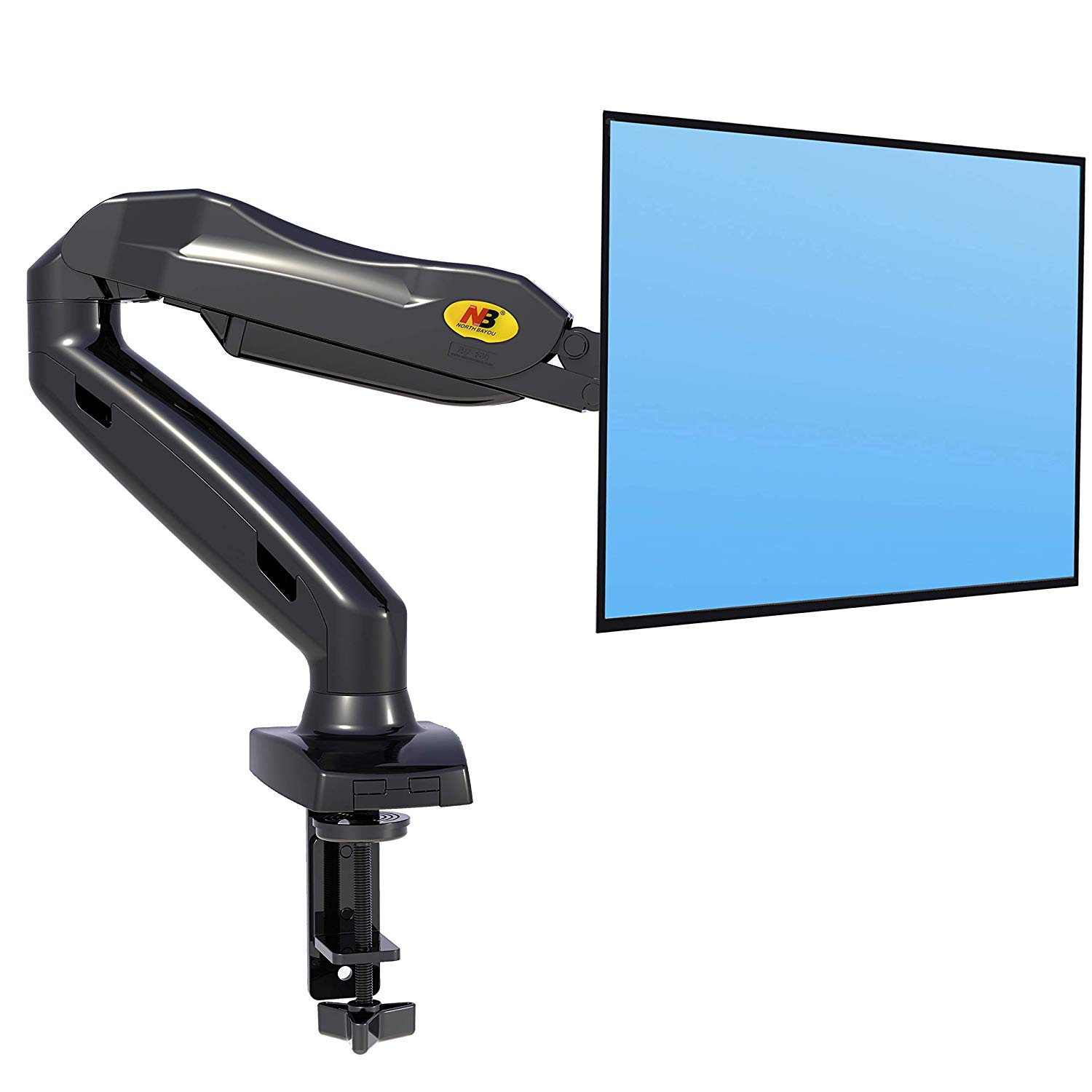 "North Bayou F80 17""-27"" Full Motion Ergonomic Monitor Arm Adjustable Gas Spring Mount Tilt Swivel (2kg to 6.5kg Loading)"