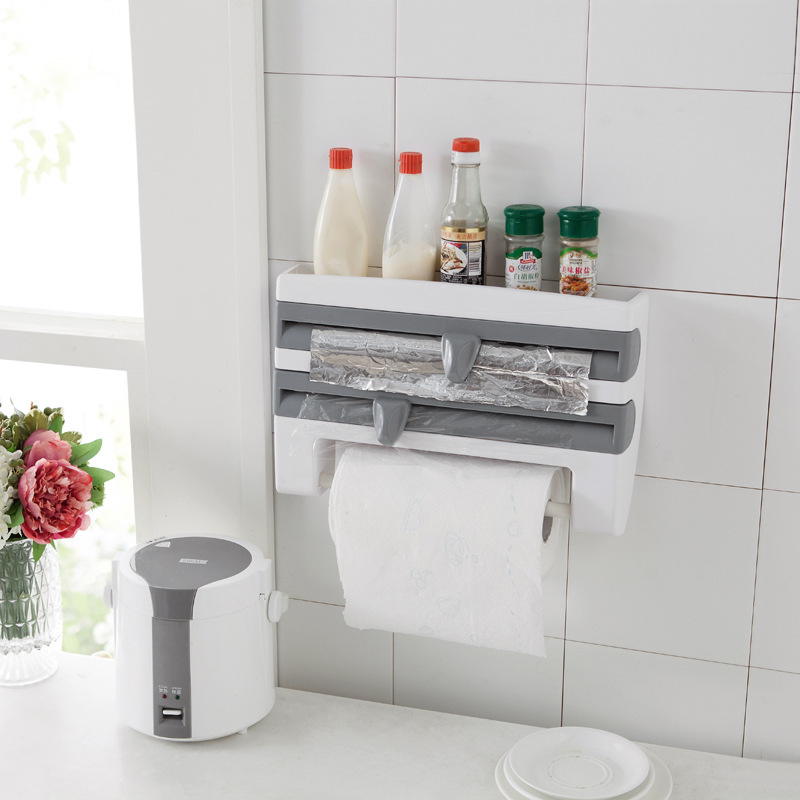 BZfuture Wall-Mount Multifunctional Kitchen Organizer