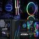 GOLDEN FIELD ICE Series Advanced RGB Lighting Liquid CPU Cooler  for Intel AMD Socket CPU Cooling