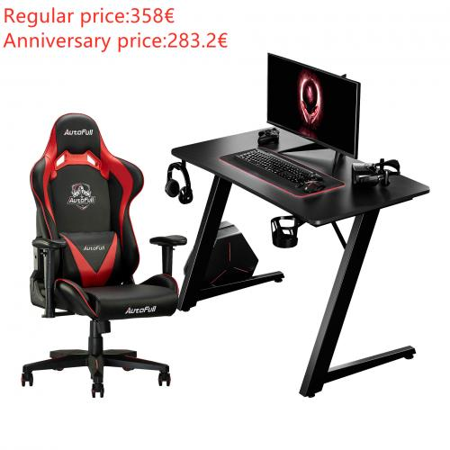 Autofull AF063+AFDJZ004BL Gaming Chair and Desk Combo
