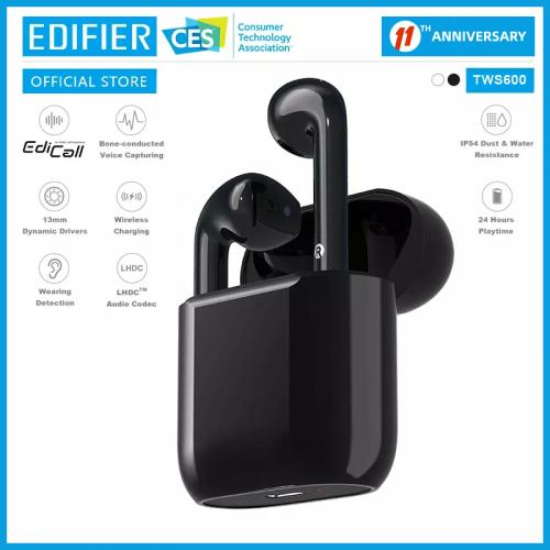 Official EDIFIER TWS600 HD call LHDC HD sound quality True wirless bone conducted noise cancellation technology earphone