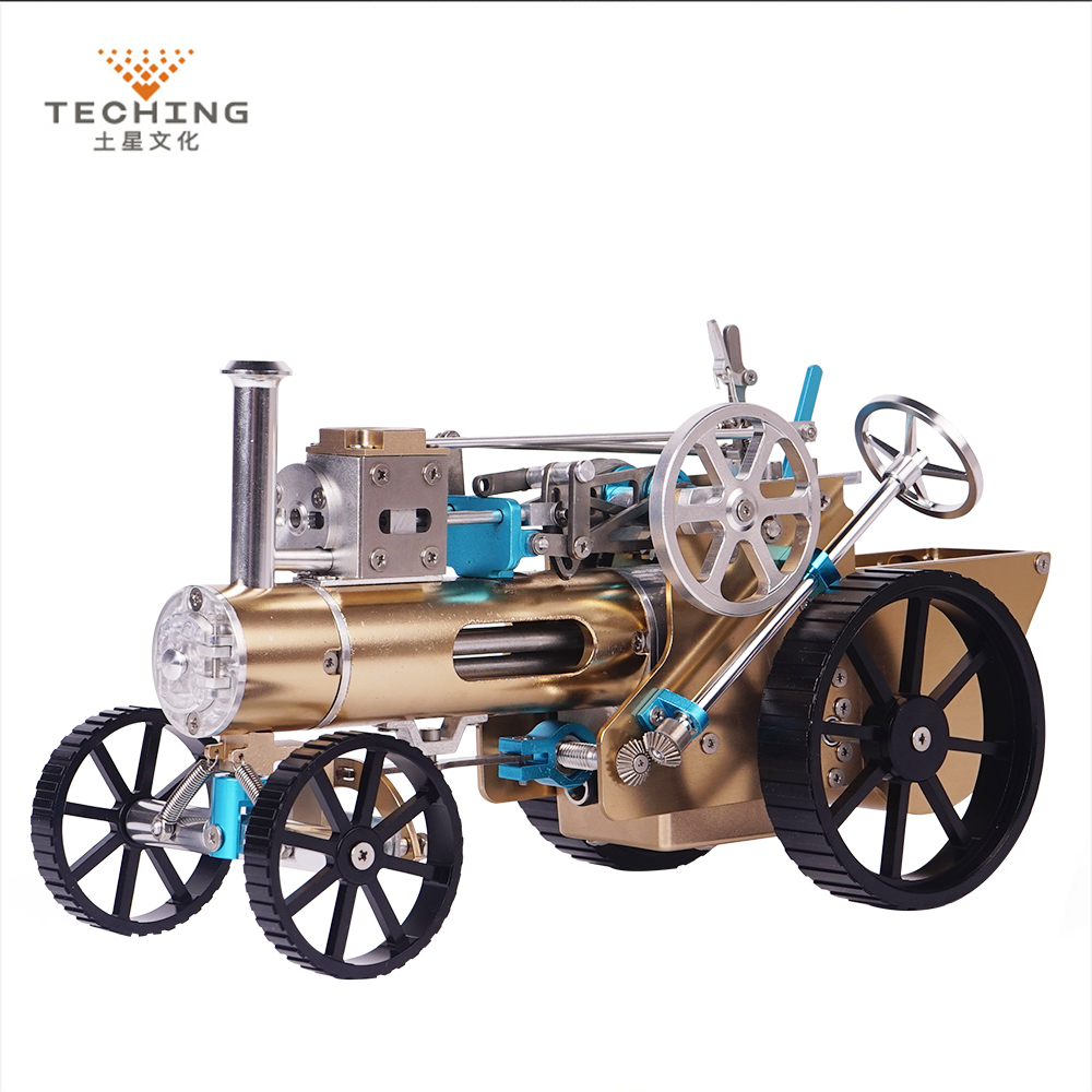 Teching DM34 Steam Car Model Stirling Engine Full Metal Model Toy Collection Gift