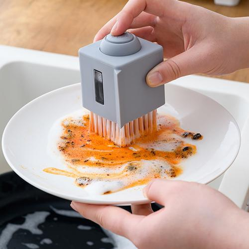 Official Bzfuture Kitchen Square Non-oily Hydraulic Water Spray Pot Brush
