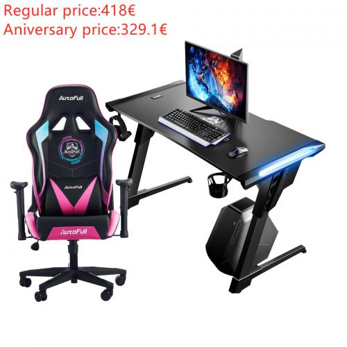 Official Autofull AF075RPU+AFDJZ004B Gaming Chair and Desk Combo