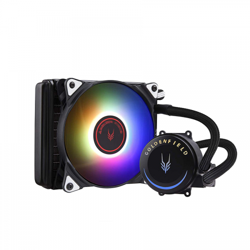 Official GOLDEN FIELD SF Series RGB All-in-One Liquid CPU Cooler with 120mm Radiator Water Cooling Cooler System for Intel AMD