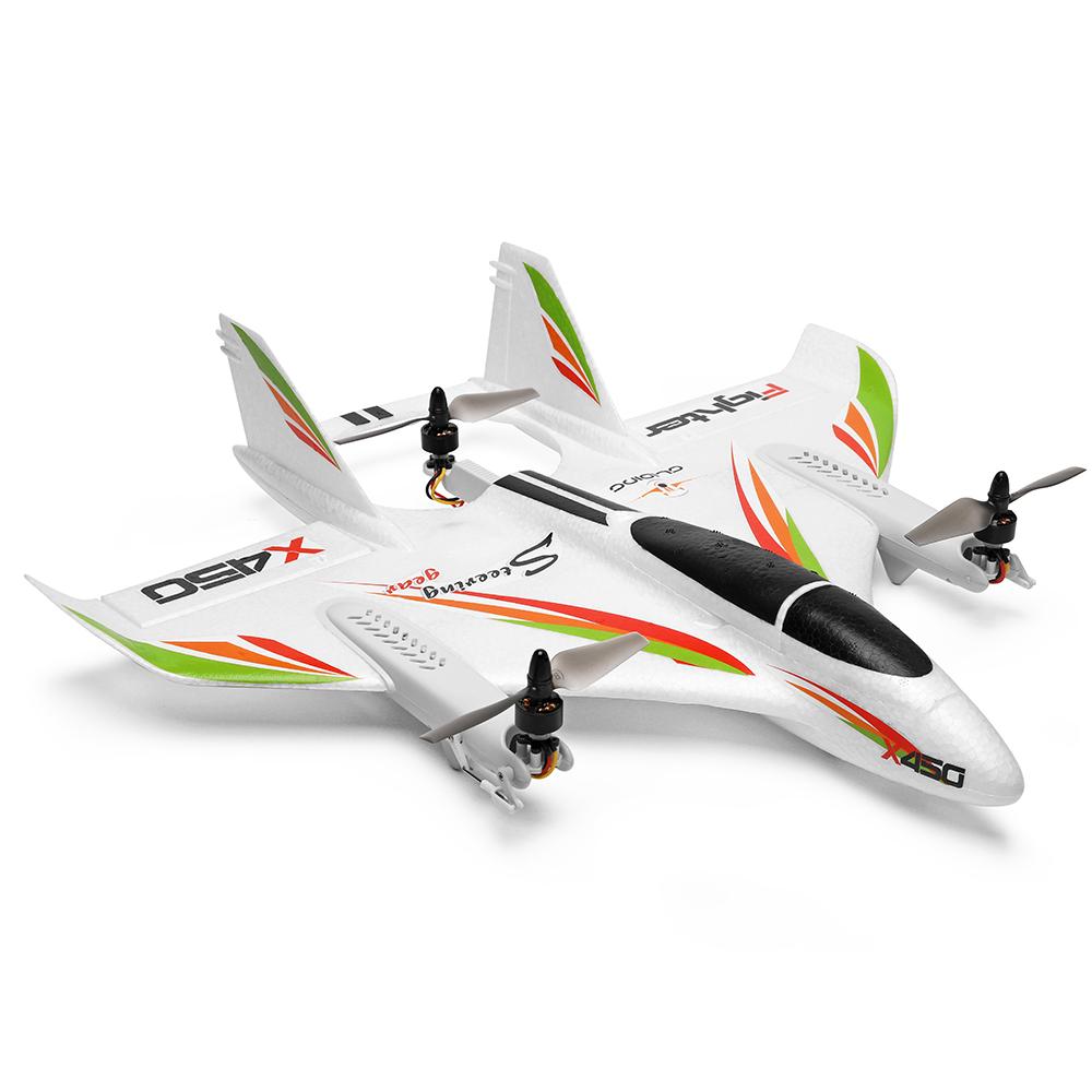 WLtoys XK X450 RC Airplane Brushless Motor 2.4G 6CH 3D/6G RC Plane