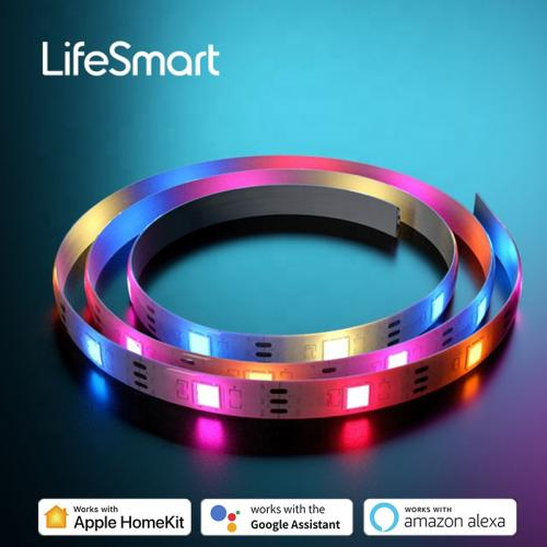 Official LifeSmart Cololight Strip Smart LED Lightstrip Length Extensible RGB Music Sync IP65 Weatherproof Works with Apple HomeKit Alexa