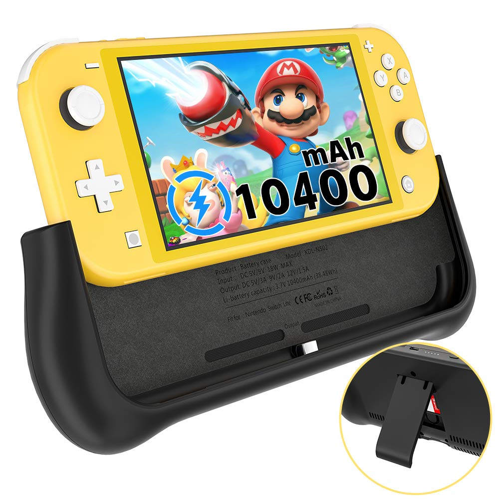 NEWDERY Battery Charger Case for Nintendo Switch Lite