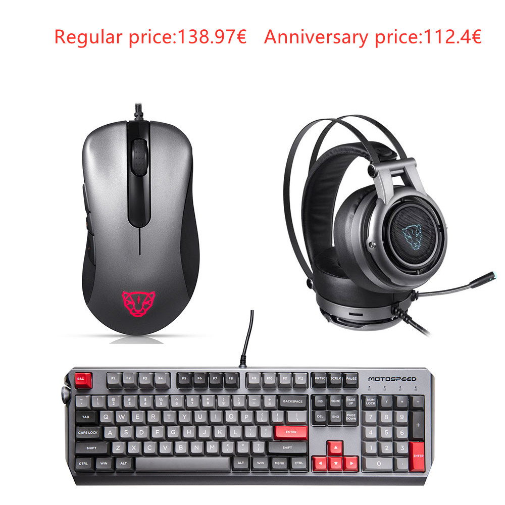 Motospeed Esports 3-piece pack Mice Headset Keyboard(V100 H18 CK80)