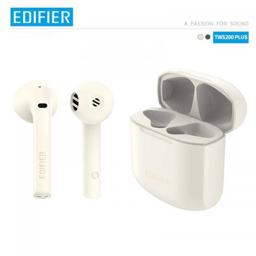 EDIFIER TWS200 Plus TWS Earbuds Qualcomm aptX Adaptive Bluetooth V5.2 Dual Mic noise cancellation