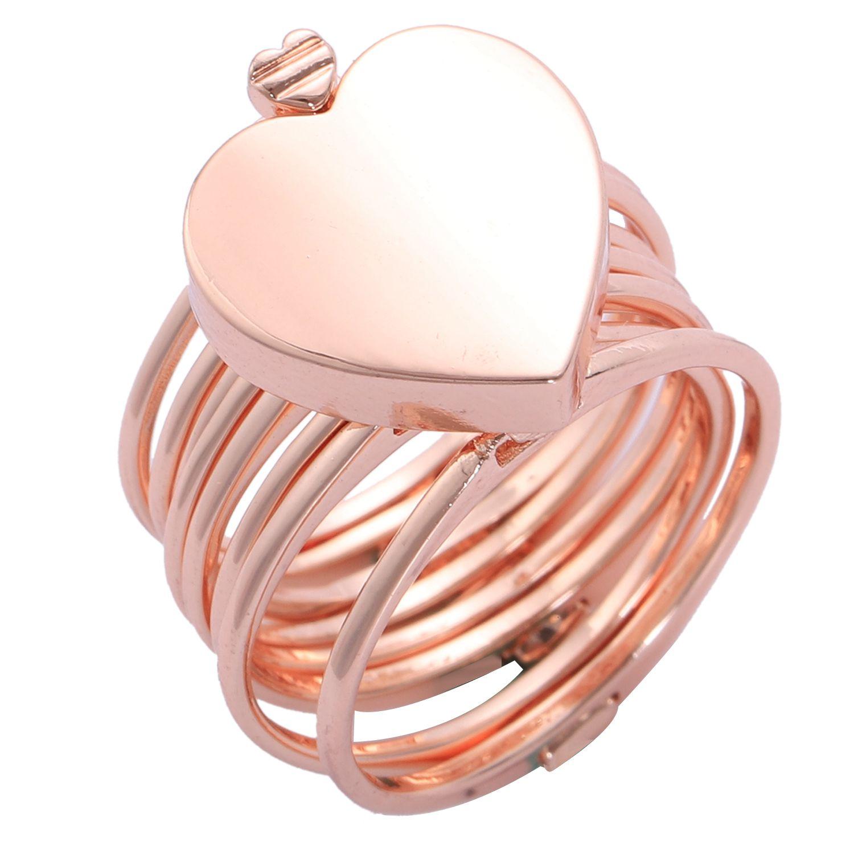 Retractable Ring Bracelet Change Dual-use Heart Folding Ring
