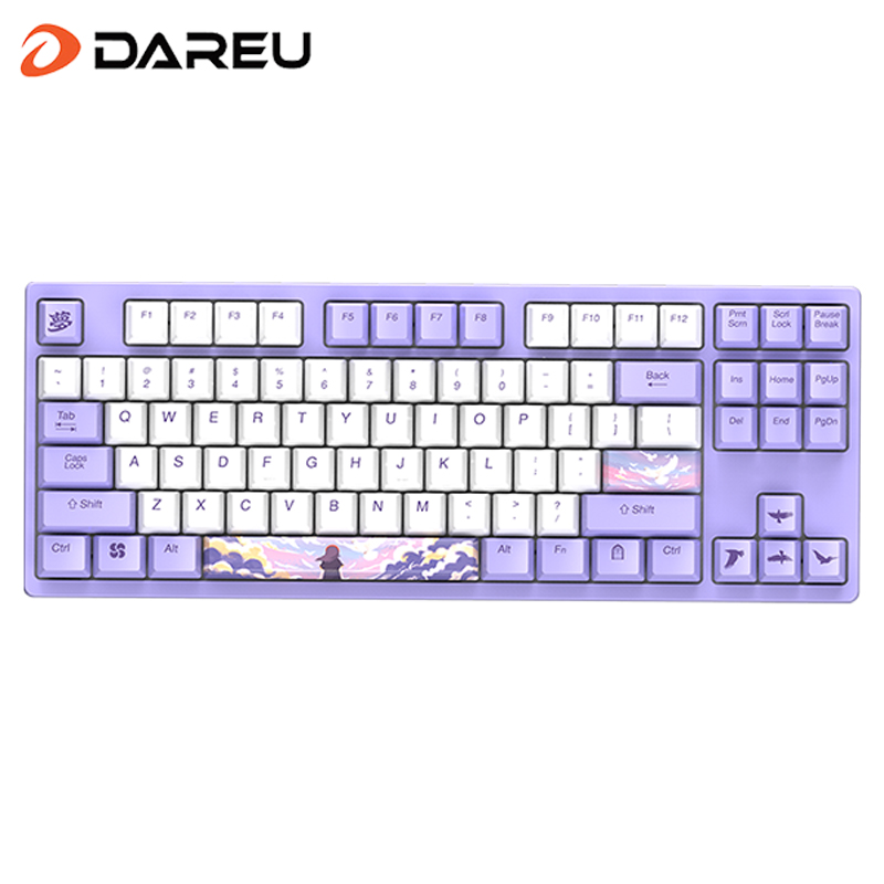 Dareu A87 Theme Series Cherry MX Axis Wired Mechanical Gaming Keyboard 87 Macro recording Keys N-Key RollOver Keypads with PBT Keycaps