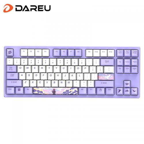 Official Dareu A87 Theme Series Cherry MX Axis Wired Mechanical Gaming Keyboard 87 Macro recording Keys N-Key RollOver Keypads with PBT Keycaps