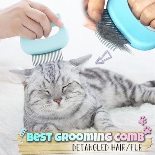 Official Pet Massaging Hair Removal  Shell Comb(buy 1 get 2 in total)