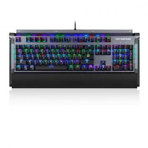 Official Motospeed CK98 Kailh BOX Switch 104 Keys NKRO USB Wired RGB Backlit Mechanical Gaming Keyboard