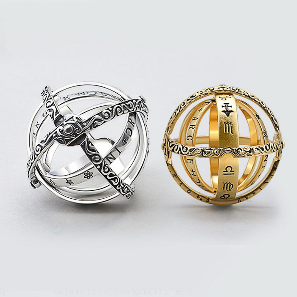 Creative Astronomical Sphere Ball Rings Cosmic Finger Ring