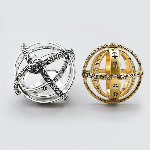 Official Creative Astronomical Sphere Ball Rings Cosmic Finger Ring