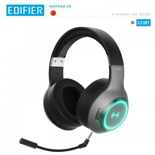 Official EDIFIER G33BT Gaming Headset 40mm driver unit PixArt BT V5.0 RGB dynamic backlight system Microphone with noise cancellation