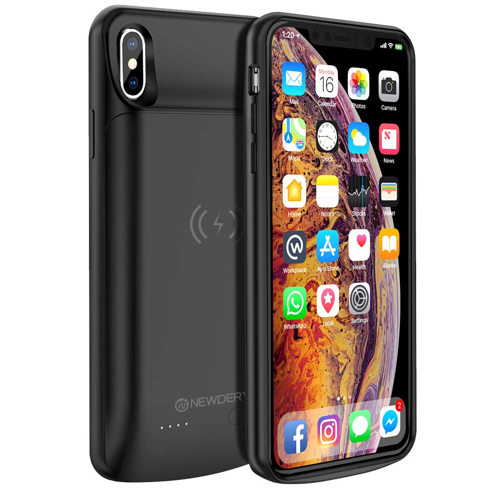 NEWDERY Wireless Charging Battery Case for iPhone XS Max