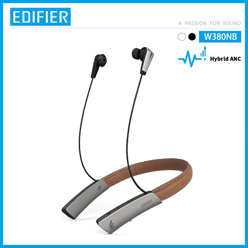 EDIFIER W380NB Wireless Bluetooth V5.0 Qualcomm aptX™ HD Audio Lambskin Leather AMS ANC Stereo Headphones