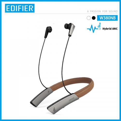 Official EDIFIER W380NB Wireless Bluetooth V5.0 Qualcomm aptX™ HD Audio Lambskin Leather AMS ANC Stereo Headphones