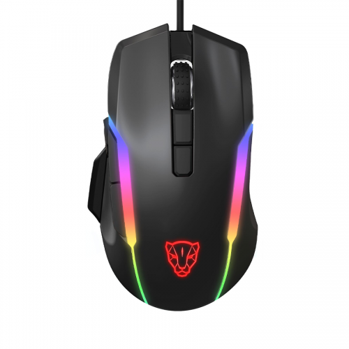 Motospeed V90 Wired Mechanical RGB Backlight Gaming Mouse PMW3325