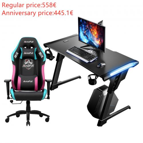 Official Autofull AF902+AFDJZ004B Gaming Chair and Desk Combo