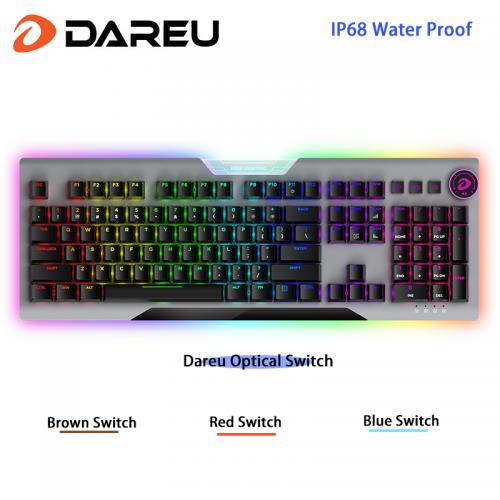 Official EK925 II Wired RGB Hotswap Gaming Keyboard 104-Key with Dareu Optical Switch for Windows Mac OS PC