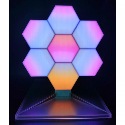 Official LifeSmart Cololight Plus LS167 LED Quantum Light Hexagon Light Panels DIY Smart Lighting Works with Apple HomeKit Google Home Alexa-7set